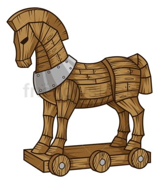 Trojan horse. PNG - JPG and vector EPS (infinitely scalable).