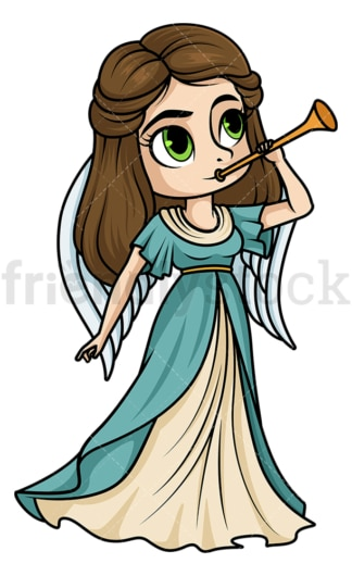 Fama pheme greek roman goddess. PNG - JPG and vector EPS file formats (infinitely scalable). Image isolated on transparent background.