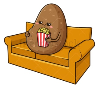 Couch potato. PNG - JPG and vector EPS (infinitely scalable).