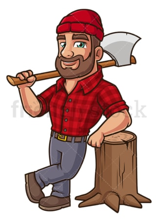 Happy logger. PNG - JPG and vector EPS (infinitely scalable).