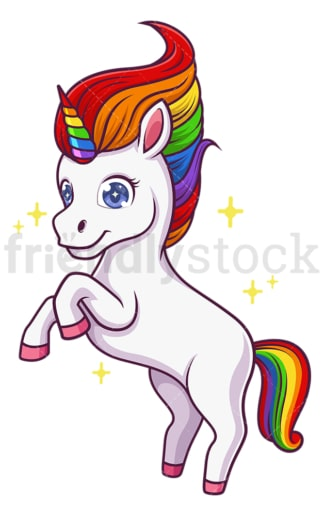 Unicorn rearing. PNG - JPG and vector EPS (infinitely scalable).