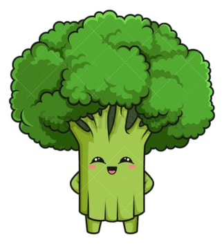 Kawaii broccoli. PNG - JPG and vector EPS (infinitely scalable).