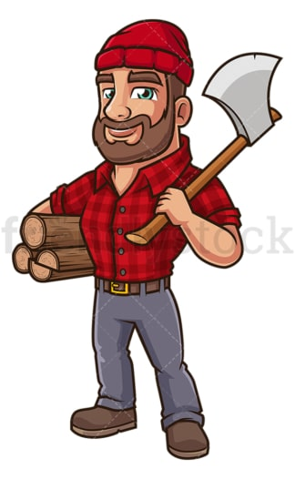 Woodsman with axe. PNG - JPG and vector EPS (infinitely scalable).