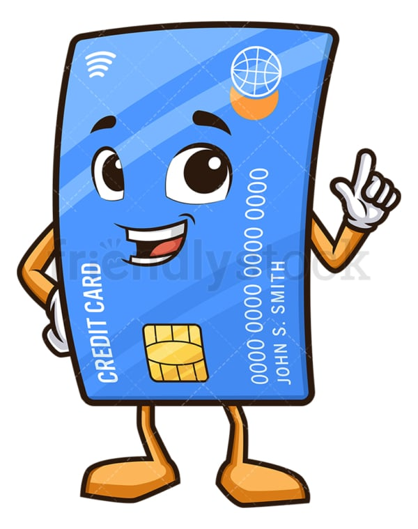 Credit card pointing up. PNG - JPG and vector EPS (infinitely scalable).
