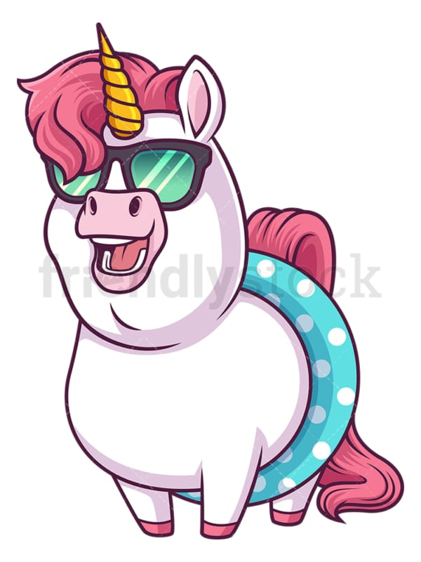 Summer unicorn. PNG - JPG and vector EPS (infinitely scalable).