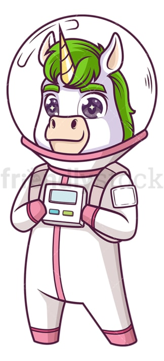Astronaut unicorn. PNG - JPG and vector EPS (infinitely scalable).