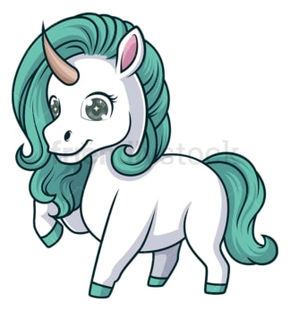 Unicorn with green mane. PNG - JPG and vector EPS (infinitely scalable).