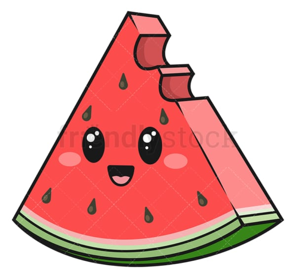 Kawaii watermelon. PNG - JPG and vector EPS (infinitely scalable).