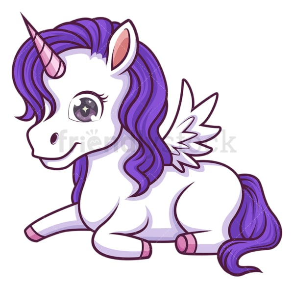 Unicorn with wings. PNG - JPG and vector EPS (infinitely scalable).