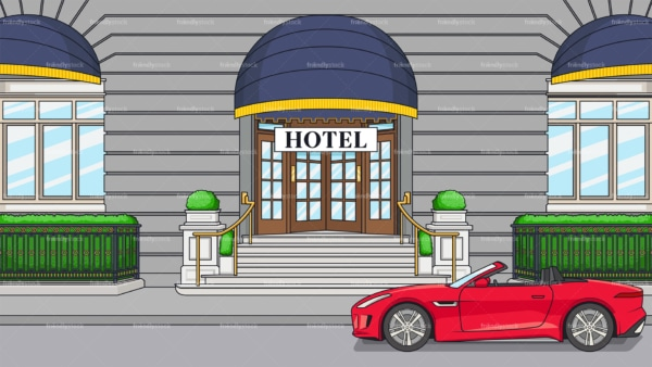 Fancy hotel entrance background in 16:9 aspect ratio. PNG - JPG and vector EPS file formats (infinitely scalable).