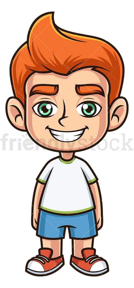 Happy ginger boy. PNG - JPG and vector EPS (infinitely scalable).