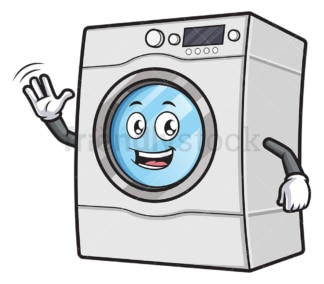 Happy washing machine character. PNG - JPG and vector EPS (infinitely scalable).