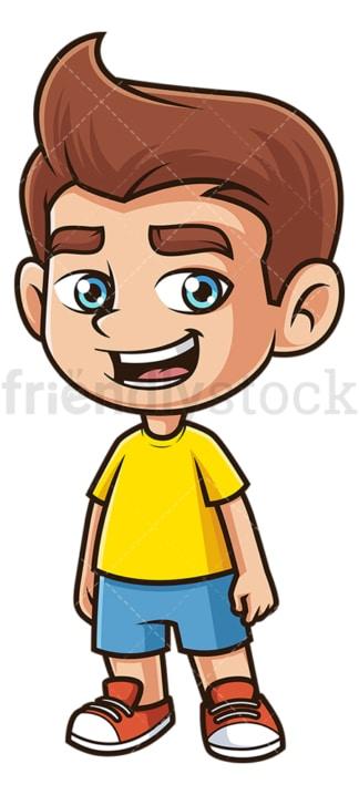 Joyful kid smiling. PNG - JPG and vector EPS (infinitely scalable).