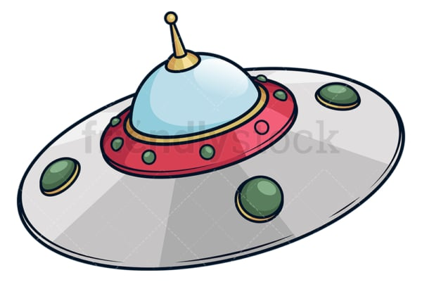 Retro ufo flying saucer. PNG - JPG and vector EPS (infinitely scalable).