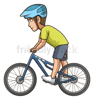 Side view man riding bike. PNG - JPG and vector EPS (infinitely scalable).