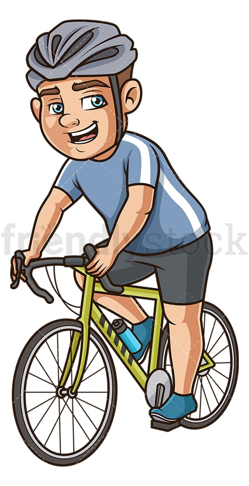 Chubby man on mountain bike. PNG - JPG and vector EPS (infinitely scalable).