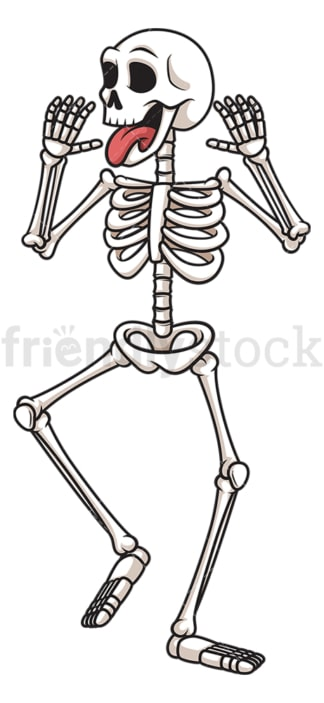 Silly skeleton. PNG - JPG and vector EPS (infinitely scalable).