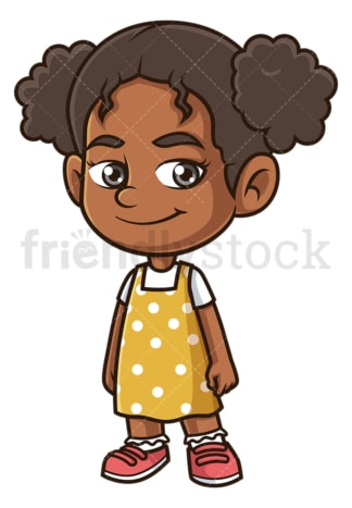 Happy black girl. PNG - JPG and vector EPS (infinitely scalable).