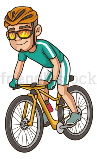 Hispanic man riding bike. PNG - JPG and vector EPS (infinitely scalable).