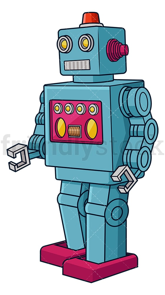 Retro robot. PNG - JPG and vector EPS (infinitely scalable).
