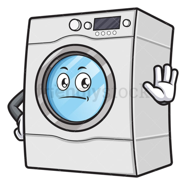 Washing machine stop gesture. PNG - JPG and vector EPS (infinitely scalable).