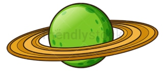 Green retro planet. PNG - JPG and vector EPS (infinitely scalable).