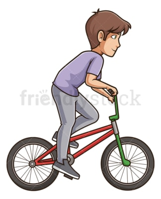Side view man riding bicycle. PNG - JPG and vector EPS (infinitely scalable).