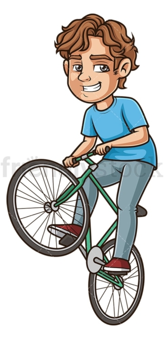 Man wheeling a bike. PNG - JPG and vector EPS (infinitely scalable).