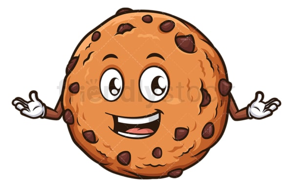 Happy cookie. PNG - JPG and vector EPS (infinitely scalable).