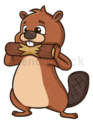 Beaver eating wood. PNG - JPG and vector EPS (infinitely scalable).