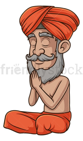Indian guru namaskara hands. PNG - JPG and vector EPS (infinitely scalable).