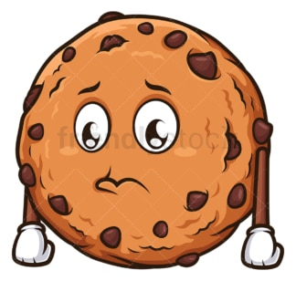 Sad cookie. PNG - JPG and vector EPS (infinitely scalable).