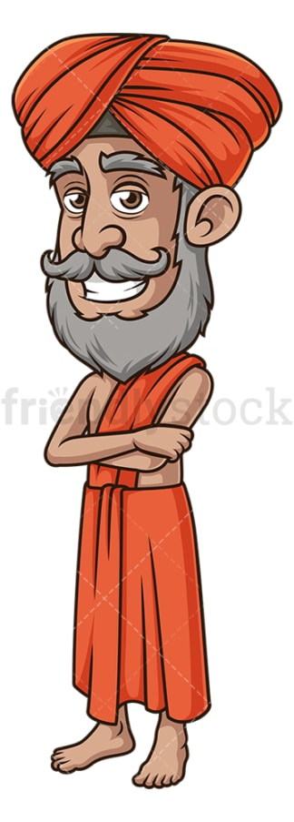 Friendly indian guru. PNG - JPG and vector EPS (infinitely scalable).