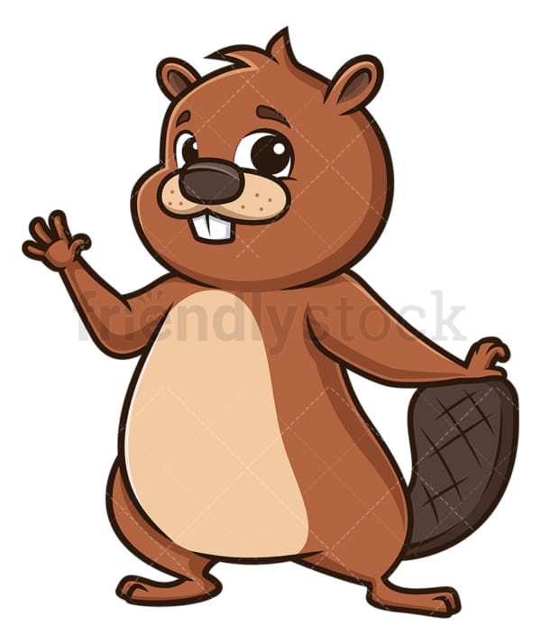 Happy beaver. PNG - JPG and vector EPS (infinitely scalable).