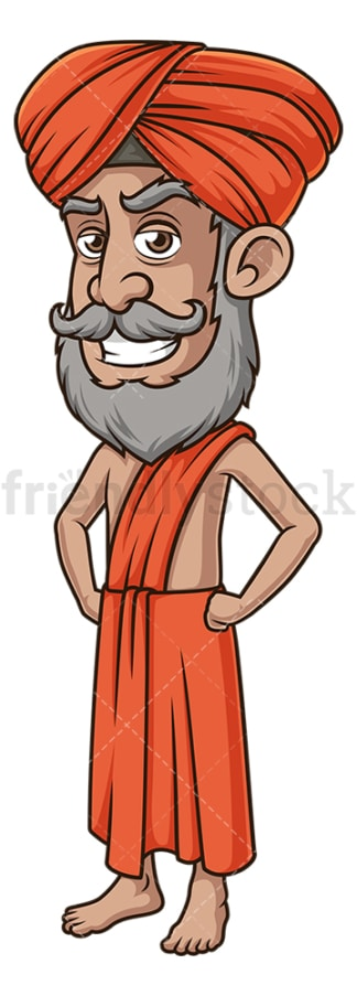 Angry indian guru. PNG - JPG and vector EPS (infinitely scalable).