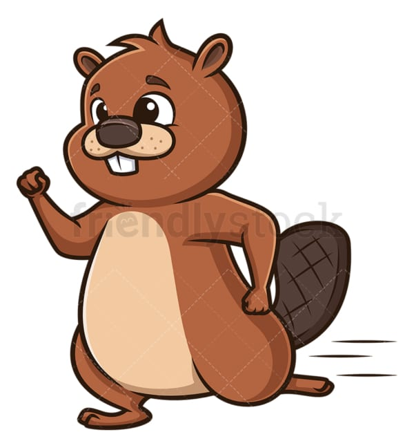Beaver running. PNG - JPG and vector EPS (infinitely scalable).