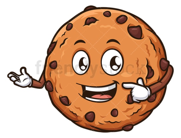 Chocolate chip cookie presenting. PNG - JPG and vector EPS (infinitely scalable).