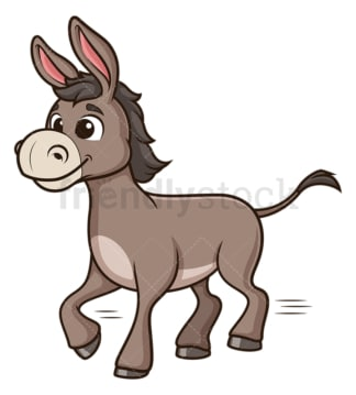 Donkey running. PNG - JPG and vector EPS (infinitely scalable).
