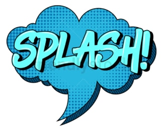 Splash retro comic book speech bubble. PNG - JPG and vector EPS (infinitely scalable).
