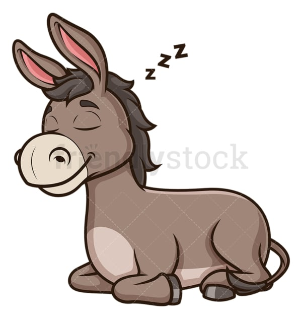 Donkey sleeping. PNG - JPG and vector EPS (infinitely scalable).