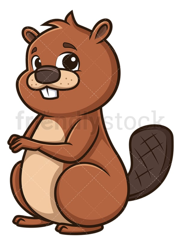 Beaver sitting down. PNG - JPG and vector EPS (infinitely scalable).