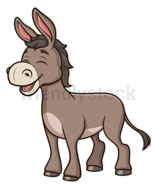 Happy donkey. PNG - JPG and vector EPS (infinitely scalable).