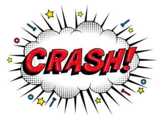 Crash retro comic book sound effect. PNG - JPG and vector EPS (infinitely scalable).