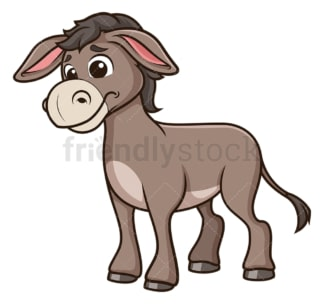 Sad donkey. PNG - JPG and vector EPS (infinitely scalable).