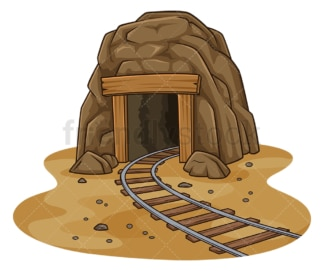Mine entrance. PNG - JPG and vector EPS file formats (infinitely scalable). Image isolated on transparent background.