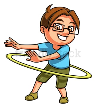 Boy hula hooping. PNG - JPG and vector EPS (infinitely scalable).