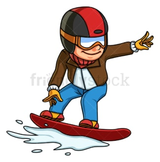 Boy snowboarding. PNG - JPG and vector EPS (infinitely scalable).