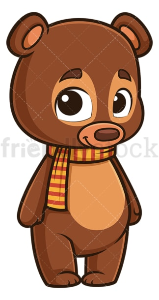 Cute autumn bear. PNG - JPG and vector EPS (infinitely scalable).