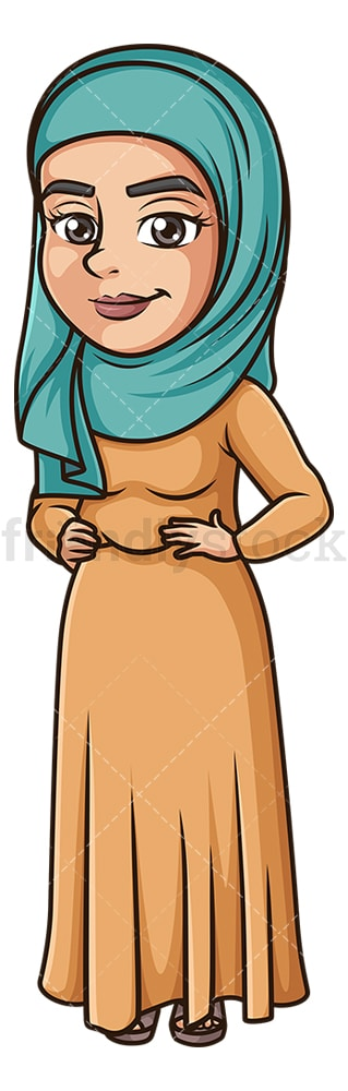 Muslim woman with hijab. PNG - JPG and vector EPS (infinitely scalable).