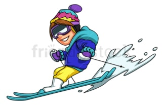 Boy skiing. PNG - JPG and vector EPS (infinitely scalable).